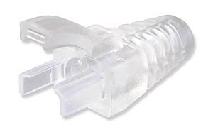 CLEAR RJ45 EZ-Squeeze Cable Boot-50pk
