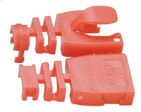 RED RJ45 Post-Assembly Cable Boot-10pk
