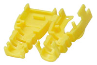 Image of YELLOW RJ45 Post-Assembly CableBoot-10pk