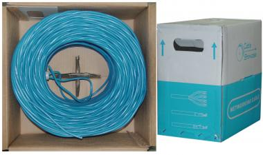 Image of 1000 ft. CAT5E 4pr. Solid UTP PVC -BLUE