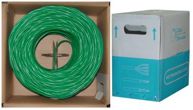 Image of CAT6-A GREEN UTP Stranded PVC-1000 ft.