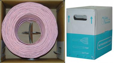 Image of 1000 ft. CAT5E 4pr. Solid UTP PVC- PINK