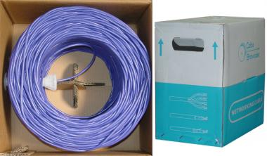 Image of 1000 ft. CAT6 PURPLE UTP Solid PVC