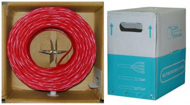 Image of 1000 ft. CAT6 RED UTP Solid PVC