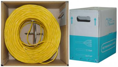 1000 ft. CAT6 YELLOW UTP Solid PVC