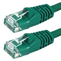 10 ft. GREEN CAT5E UTP Cable with Boots