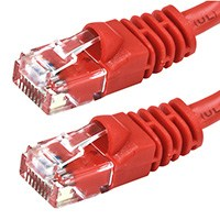 Image of 7 ft. RED CAT6A UTP Cable with Boots