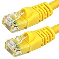Image of 4 ft.YELLOW CAT5E UTP Cable with Boots