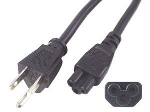 6 ft. Notebook Power Cord - Polarized