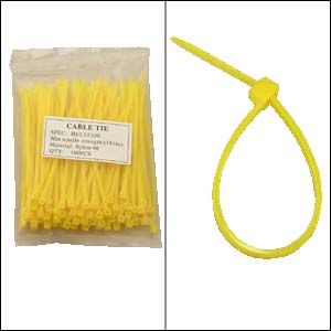 "6"" YELLOW Nylon Cable Tie - 100 pack"