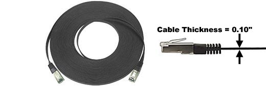 14 ft. CAT5E SuperFlat Cable-SHIELDED