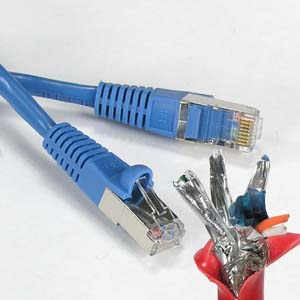 Image of 1 ft. BLUE - CAT6 Shielded Patch Cable
