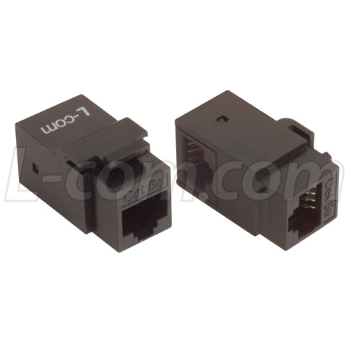 Image of CAT5E UTP F/F SnapIn-Coupler-RIGHT ANGLE