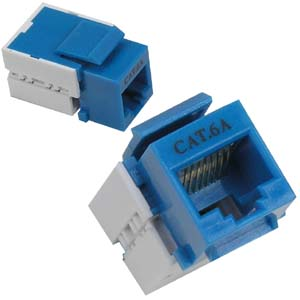 CAT6A Unshielded Keystone Jack - BLUE