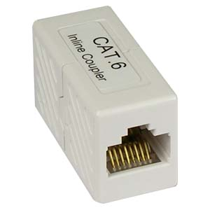 CAT6 UTP RJ45 F/F In-Line Coupler-WHITE