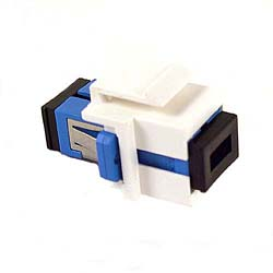 SC  Fiber Optic Snap-in Insert - White