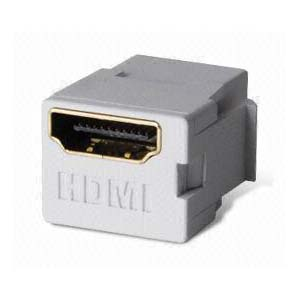 Image of HDMI Keystone Snap-In Coupler - White
