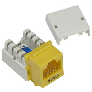 YELLOW CAT6 110-Type Keystone Jack