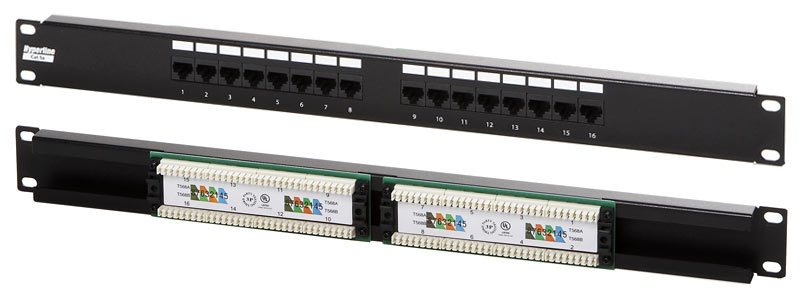 Computer cables keystone products patch panels cat5 e 16 port cat5 e 110 style patch panel 1u swarovskicordoba