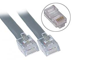 7 ft. RJ48 10C Straight Modular Cable