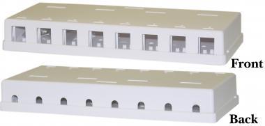 8 port rj45 surface mount block only. Black Bedroom Furniture Sets. Home Design Ideas