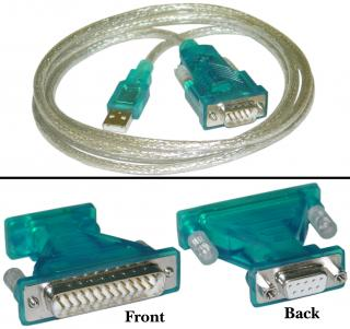Image of USB 2.0 to DB9/DB25 Serial Cable