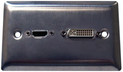 HDMI/DVI Stainless Steel Combo Wallplate
