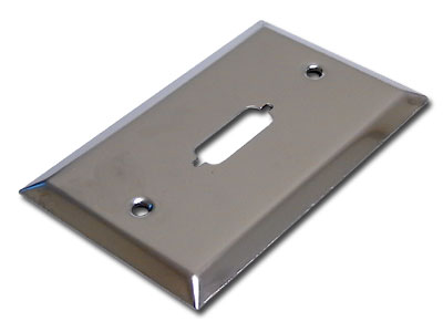 Image of 1-hole DVI Wallplate - Stainless Steel