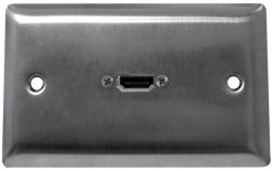 Image of HDMI Stainless Steel Wallplate